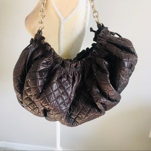 BCBG Maxazria Brown Leather slouchy Bag